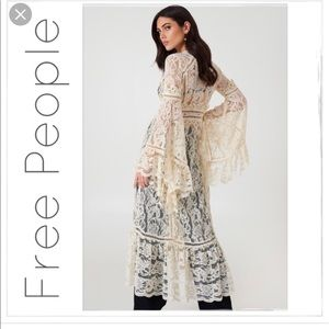 Free People Other - Free People Ivory Rhiannon Lace Kimono